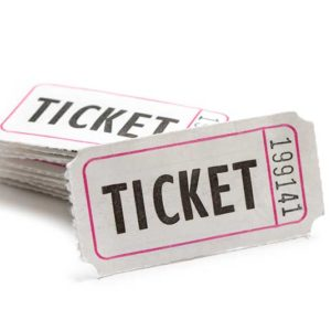 white raffle ticket